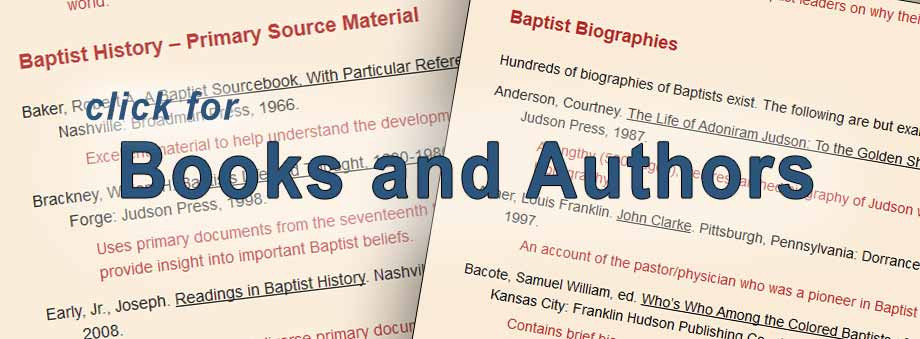 Bibliography for researching Baptist beliefs