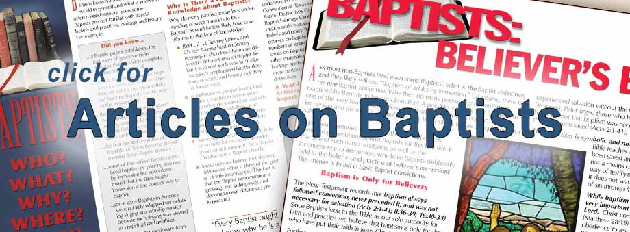 Click for Articles on Baptist Heritage